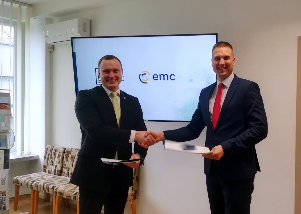 EMC ir KTU bendradarbiavimo sutartis